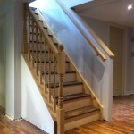 Custom Oak stairs and railing