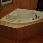 Custom pine tub surround