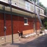 Siding on 2nd storey addition