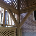 Timber framed covered deck