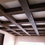 Oak coffered ceiling