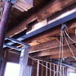 Flush steel beam install