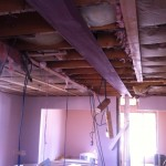 Steel beam install to make an open concept living space