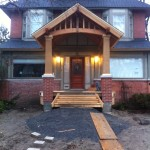 Custom timber framed porch- extremely detailed, landscaping to be done by others