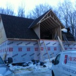 Shingling a new roof immediately after framing