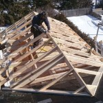 Handcut addition roof