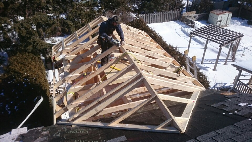 Framing for Roof addition